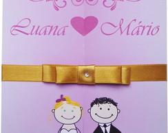 Convite de Casamento F�csia Frete Gr�tis