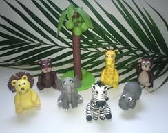 Kit topo de bolo Safari, selva,floresta
