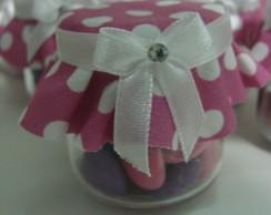 Potinho decorado vidro e confete cora��o