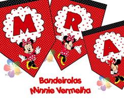 Bandeirola/varal - Minnie Vermelha