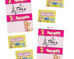 R�tulo Pa�oca Barbie 7x4 Cm