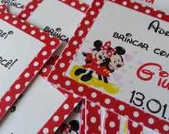 Tag Agradecimento Minnie e Mickey