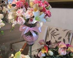 Kit bouquets noiva & Arranjo mesa bolo I