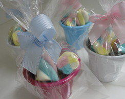 Mini Balde com Marshmallows