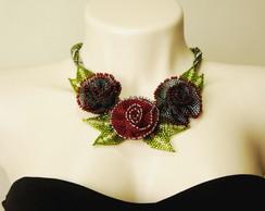 Maxi colar Red Roses
