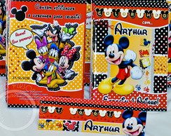 Revista Kit Colorir Mickey turma Disney
