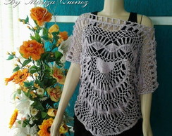 Blusa croch� Luciana Balby The Voice