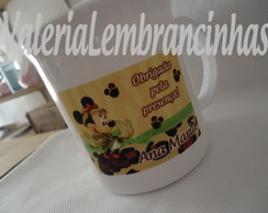 Caneca Pl�stica Aniversar. Minnie Safari