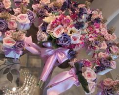 Kit Bouquet noiva+mini+20 centros mesa