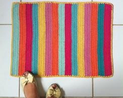 Tapete De Croch� Colorido 45x60