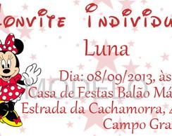 Convite Individual Minnie