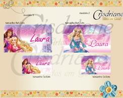 Etiqueta Escolar Barbie