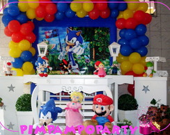 Decora��o Clean Game Sonic e Mario Bros