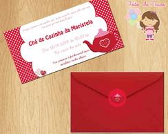 Convite Ch� de cozinha Vermelho