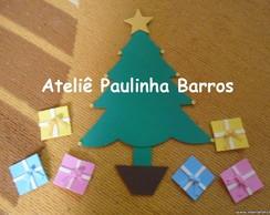 Aplique �rvore de Natal com presentinhos