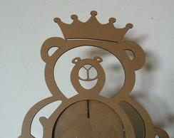 Porta Retrato Urso Rei