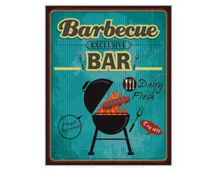 Placa MDF Retr� Barbecue Bar - 672