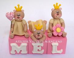 Topo De Bolo Ursinhas Princesas