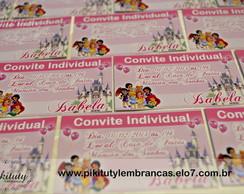 Convite Individual Princesas Baby