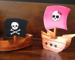 Barco Pirata em MDF menina e menino