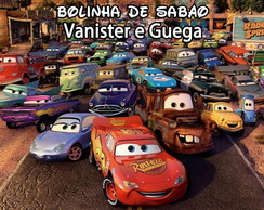 R�tulo Bolinha De Sab�o - Carros