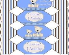 Caixa Bala Ursinho Azul