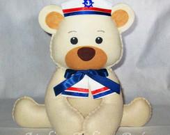 Kit 6 Centro de Mesa Urso Marinheiro