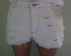 Shorts jeans branco Hot Pants