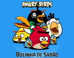 R�tulo Bolinha De Sab�o - Angry Birds