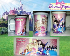 Caneca Barbie Princesa Pop Star