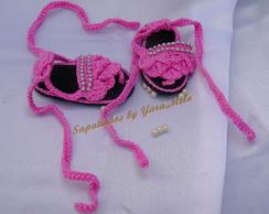 Rasteirinha de Croch� Rosa