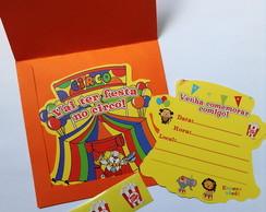 Convites Circo Tendinha