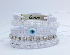 Kit de pulseiras sorte e amor reveillon