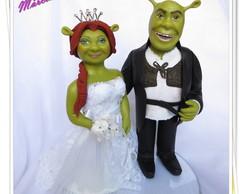 topo de bolo Shrek e Fiona