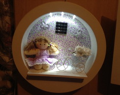 Porta Maternidade nicho iluminado