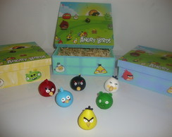 Cole��o angry birds em biscuit