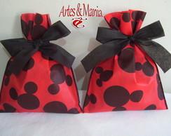 Sacola De Tnt - Mickey/Minnie 19x24cm