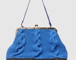 Bolsa  Aurora Tricot  Azul