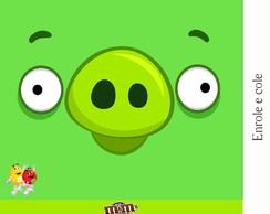 R�tulo Para M&m Angry Birds