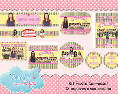 Kit Digital Tema Carrossel