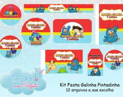 Kit Digital Tema Galinha Pintadinha