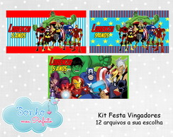 Kit Digital Tema Vingadores