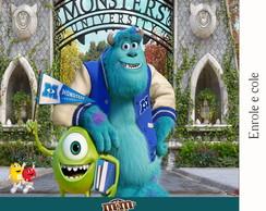 R�tulo Para M&m Universidade Monstros