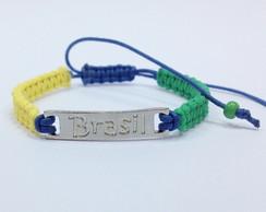 Pulseira Brasil - FRETE GRATIS