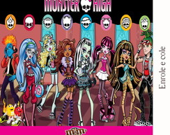 R�tulo Para M&m Monster High