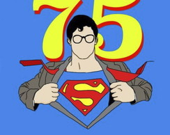 "Poster ""Superman 75 anos"""