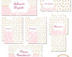 Kit Toalete Rosa Floral (arte)