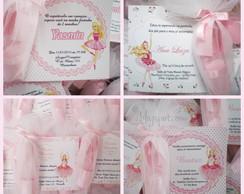 Convite Barbie Bailarina  C/sapatilha