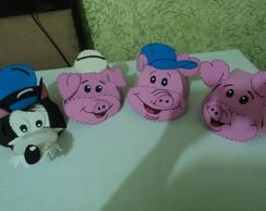 Chap�u Infantil Em Eva - Os 3 porquinhos