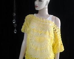 Blusa Crochet Grampo Luciana Balby
